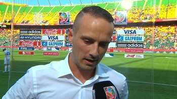 Intervju med Englands trener Mark Sampson. England tapte 2-1 for Japan i semifinelen i fotball-VM.