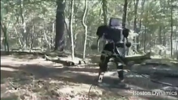"Google testet roboten ""Atlas"" i skogen. Foto: Boston Dynamics"