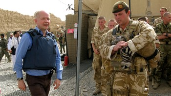 William Hague i Afghanistan