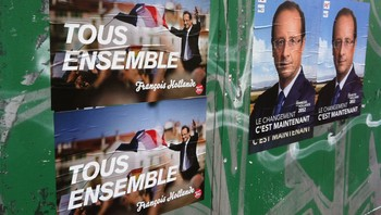 Valgplakater for Francois Hollande