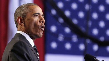 Barack Obama - President Barack Obama under en tale i Chicago tirsdag. - Foto: NTB Scanpix /