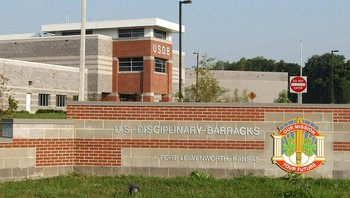 Militærfengselet i Fort Leavenworth i Kansas