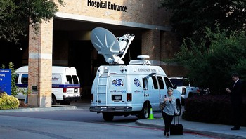 Inngangen til Texas Health Presbyterian Hospital - Mike Stone/Getty Images - Foto: Mike Stone/Getty Images / AFP