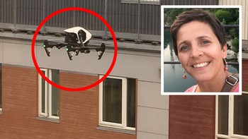 – Dronen bare hang der og stirret på meg