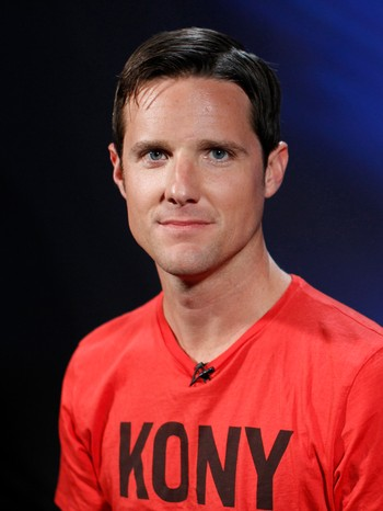 "Jason Russell, co-founder of non-profit Invisible Children and director of ""Kony 2012"" viral video campaign, posing in New York"