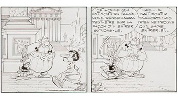 FRANCE-ATTACKS-CARTOONS-CHRISTIES-AUCTION-ASTERIX-UDERZO -