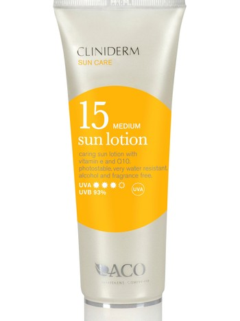 Cliniderm - Best i test: Cliniderm Sun Lotion, faktor 15