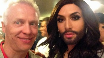 Morten Thomassen og Conchita WurstPrivat