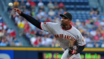 San Francisco Giants' Guillermo Mota - Guillermo Mota er tatt for doping - for andre gang. - Foto: Scott Cunningham / Afp
