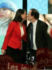 Segolene Royal og Francois Hollande  (Foto: MICHEL EULER/AP)