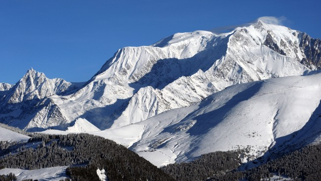 Mont Blanc-massivet (Foto: JEAN-PIERRE CLATOT/Afp)