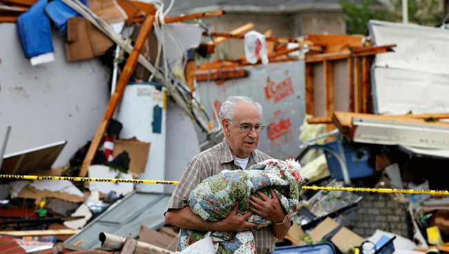 Ruiner etter Tornado i Arlington, Texas (AFP)