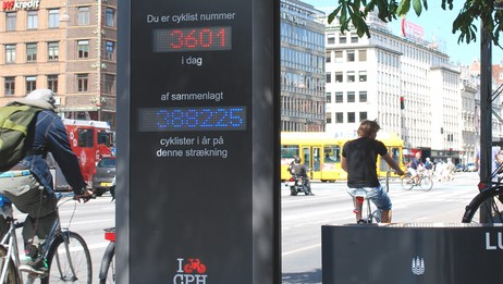 Sykkelbarometeret i Kbenhavn (Foto: Kbenhavn kommune)