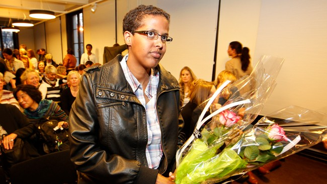 Amal Aden trosset trusler for  delta p debatt (Foto: Larsen, Hkon Mosvold/Scanpix)