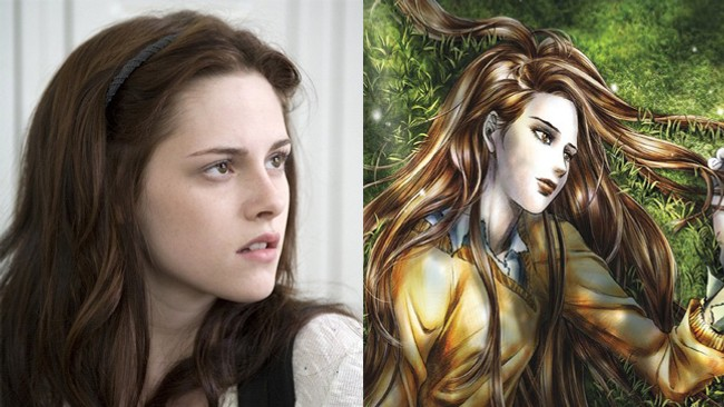 Twilight - film og tegneserie (Foto: Nordisk film distribusjon og Yen Press/Young Kimn)