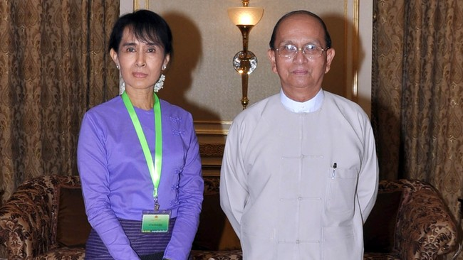 Myanmar: Suu Kyi Aung San Suu Kyi, Thein Sein (Ap)