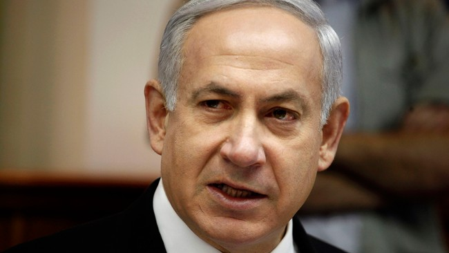ISRAEL-ELECTION/ Israel's Prime Minister Netanyahu speaks at cabinet meeting in Jerusalem (Foto: POOL/Reuters)
