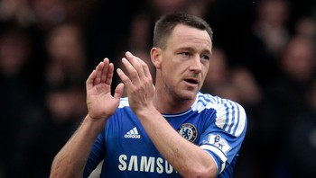 SOCCER-ENGLAND/ Chelsea's Terry acknowledges fans after their English Premier League soccer match against Queens Park Rangers at Stamford Bridge in London