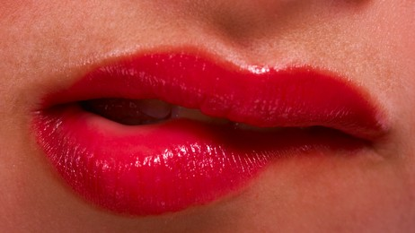 Lips Showing Nervous Woman (Foto: Colorbox)