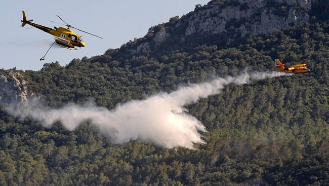 Spania skogbranner (Foto: REMY GABALDA/Afp)