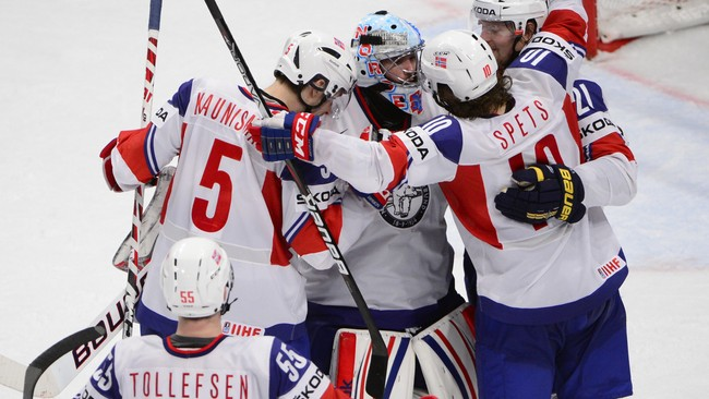Norge ishockey (Foto: JONATHAN NACKSTRAND/Afp)