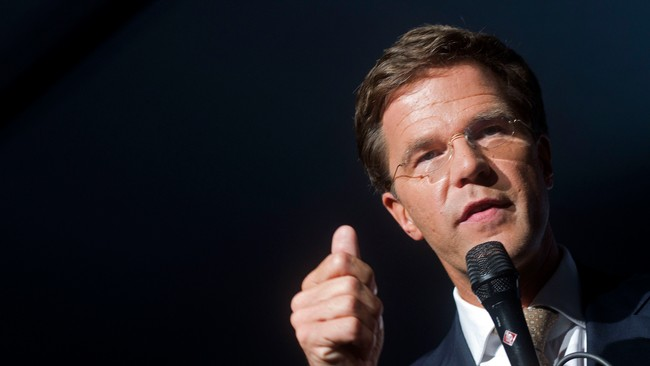 Mark Rutte, leder for VVD i Nederland (Foto: Evert-Jan Daniels/Ap)