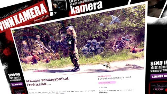 Supermarie blogger om forsvaret (Foto: Faksimile)