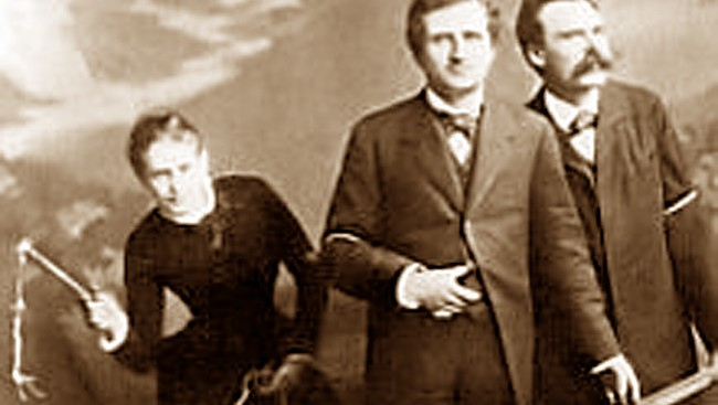 Lou Andreas Salom, Paul Ree og Friedrich Nietzsche, 1882 (Wikipedia) (Foto: Wikipedia)
