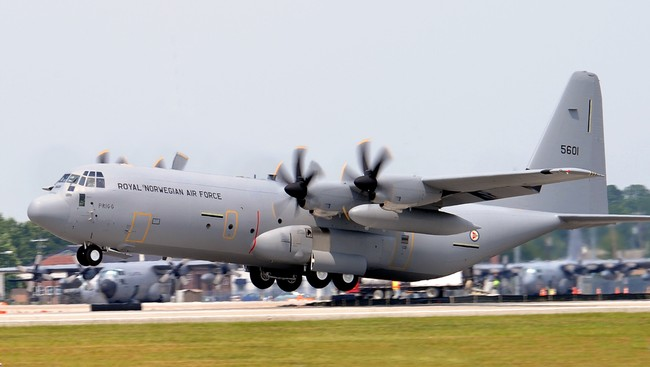 Forsvarets nye transportfly C-130J Hercules (Foto: Lockheed Martin)