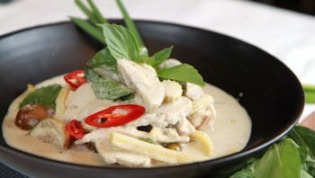Green curry kylling