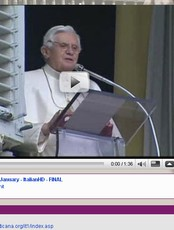 Pave Benedikt XVI på YouTube (Foto: Skjermdump fra The Vatican channel)