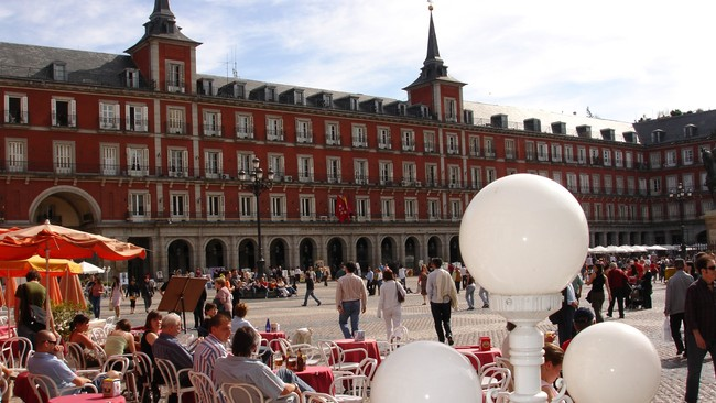 Plaza Mayor, Madrid (Foto: Arnt Stefansen/NRK)