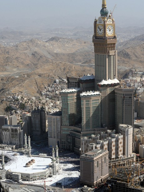 Mecca Royal Clock Hotel Towers (Foto: FAYEZ NURELDINE/Afp)