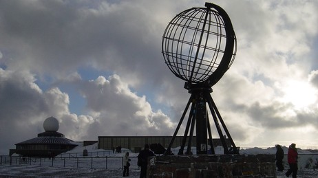 Nordkapp globus (Foto: Atle Markeng/NRK)