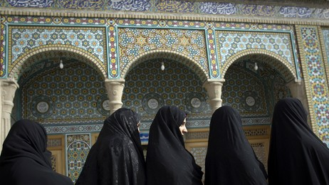 Iranske kvinner i valgk (Foto: BEHROUZ MEHRI/Afp)