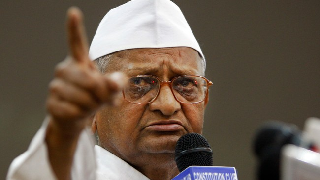 Anna Hazare (Foto: Mustafa Quraishi/Ap)