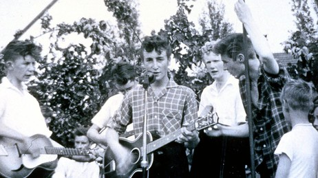 The Quarrymen med John Lennon (Foto: SOTHEBY'S/EPA)