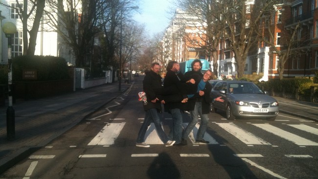 DeLillos i Abbey Road (Foto: Gry Blekastad Alms)