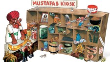 Mustafas kiosk (Foto: Illustrasjon: Jakob Martin Strid)
