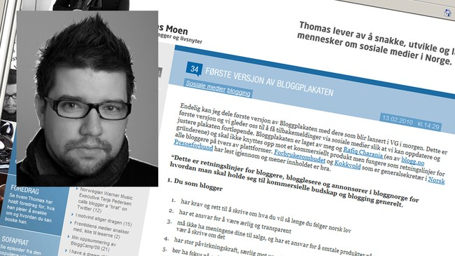 Bloggen til Thomas Moen (Foto: Screenshot)