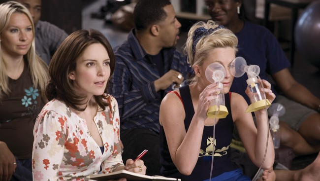 Tina Fey og Amy Poehler i 'Baby Mama'. (Foto: Photo Credit: K.C. Bailey)