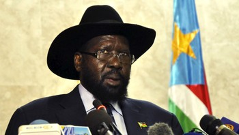 SOUTHSUDAN-UNREST/ South Sudan's President Kiir addresses the nation at the South Sudan National Parliament in Juba