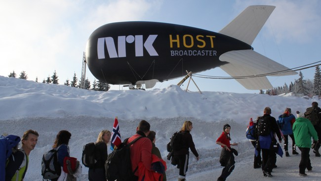NRK Host Broadcaster camera blimp (Foto: Margareth Johansen)