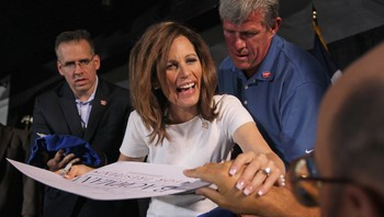 US-121160812 Rick Perry And Michelle Bachmann