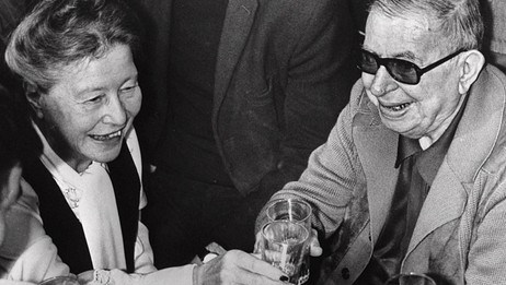 Simone de Beauvoir og Jean-Paul Sartre (AP)