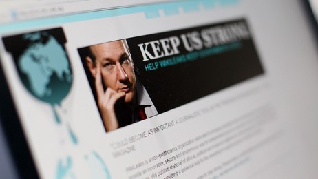 Wikileaks nettside 3. desember 2010 (Foto: THOMAS COEX/Afp)