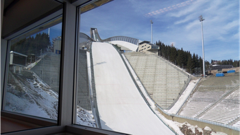View from Ski Jumping HS 134 commentary position.