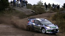 Petter Solberg og kartleser Chris Patterson i Rally Argentina 2012 (Foto: DIEGO LIMA/Afp)
