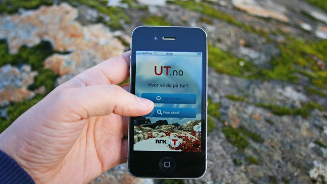 UT-app (Foto: Jenny Duesund/NRK)