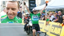 Edvald Boasson Hagen gikk i ml i ensom majestet under den nest siste etappen av Tour of Norway. (Foto: NRK)